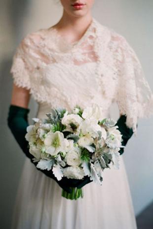emerald green wedding gloves