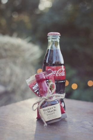 get the party started wedding favour - spirit and coke drink
