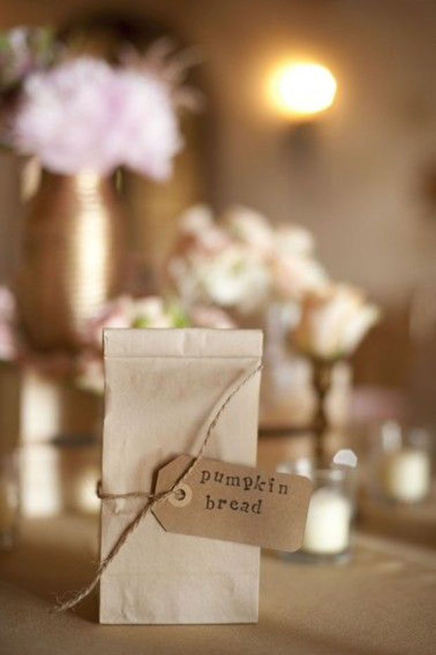 homemade bread ingredients for wedding guest favours