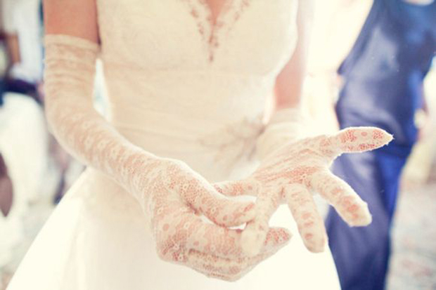 long lace wedding gloves