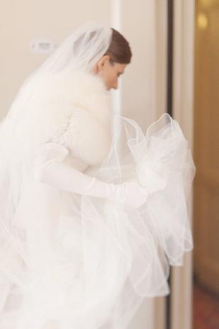 long white satin bridal gloves - Copy