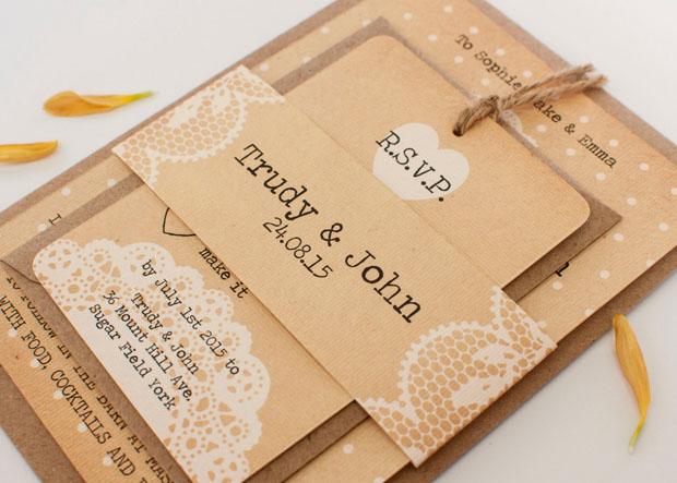 Rustic Wedding Stationery: Norma & Dorothy
