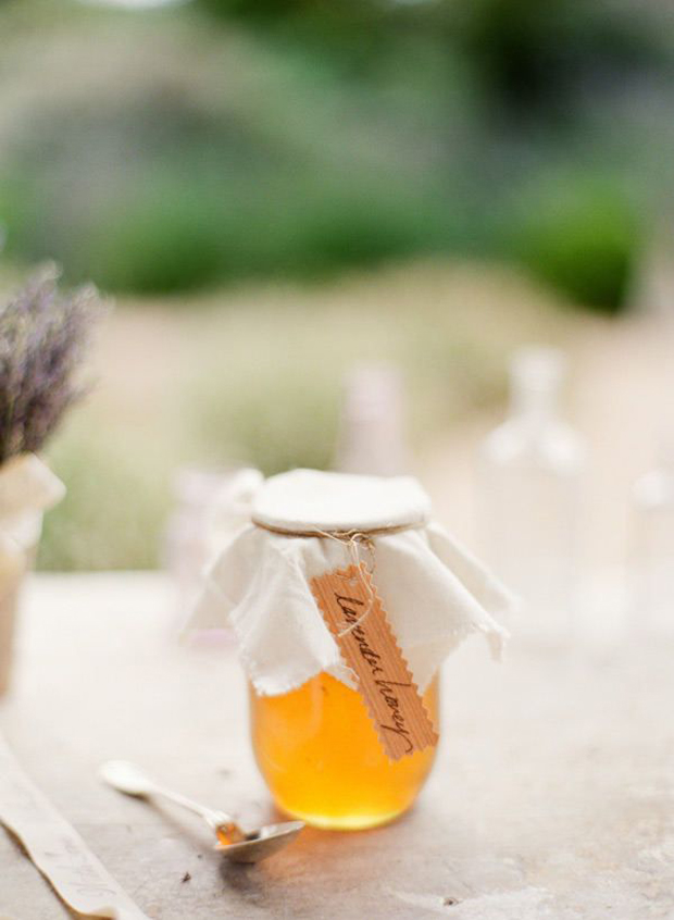 summer wedding favour - lavender honey