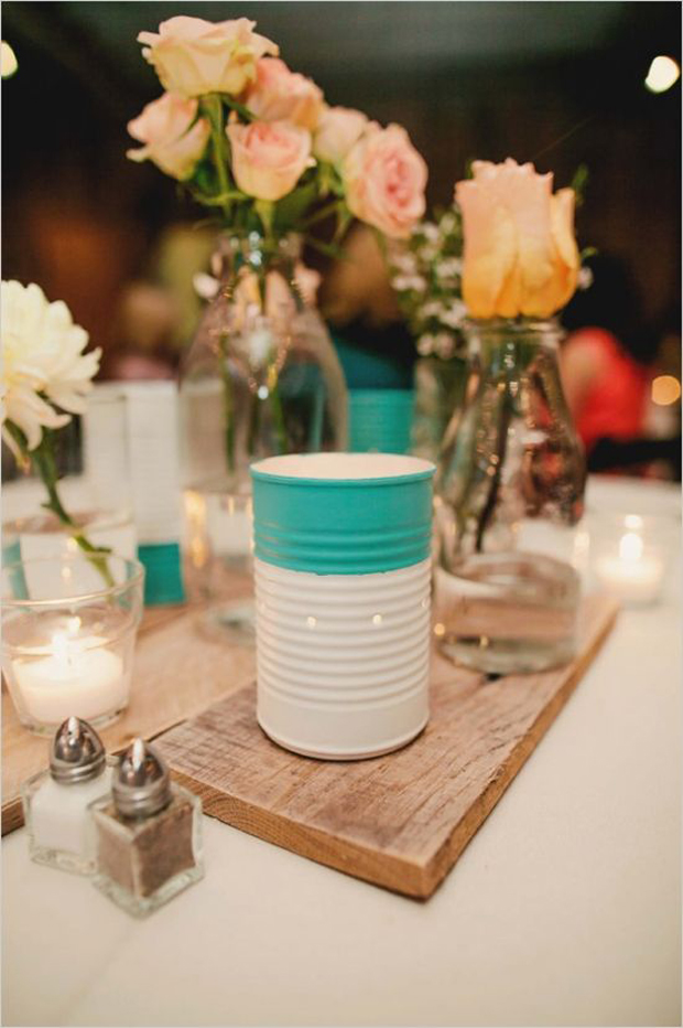 Creative Diy Wedding Ideas : Fun creative diy tin can wedding ideas