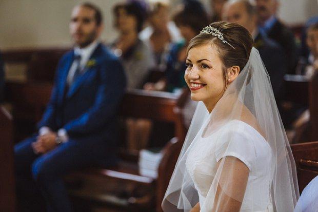 Blue & Mustard Rustic Barn Wedding With 50s Wedding Dress_0022