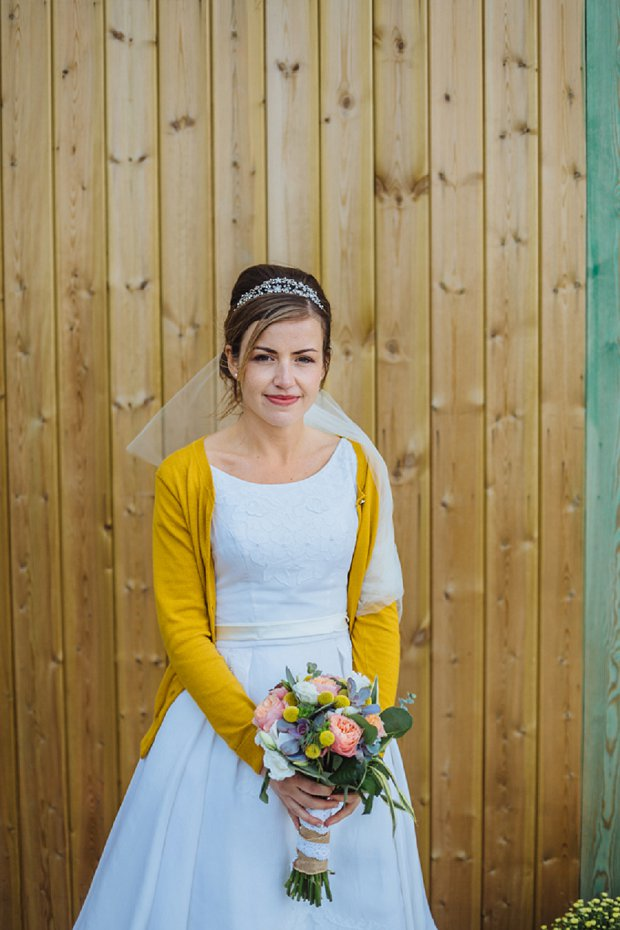 Blue & Mustard Rustic Barn Wedding With 50s Wedding Dress_0069