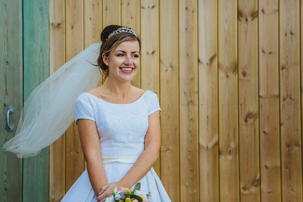 Blue & Mustard Rustic Barn Wedding With 50s Wedding Dress_0070