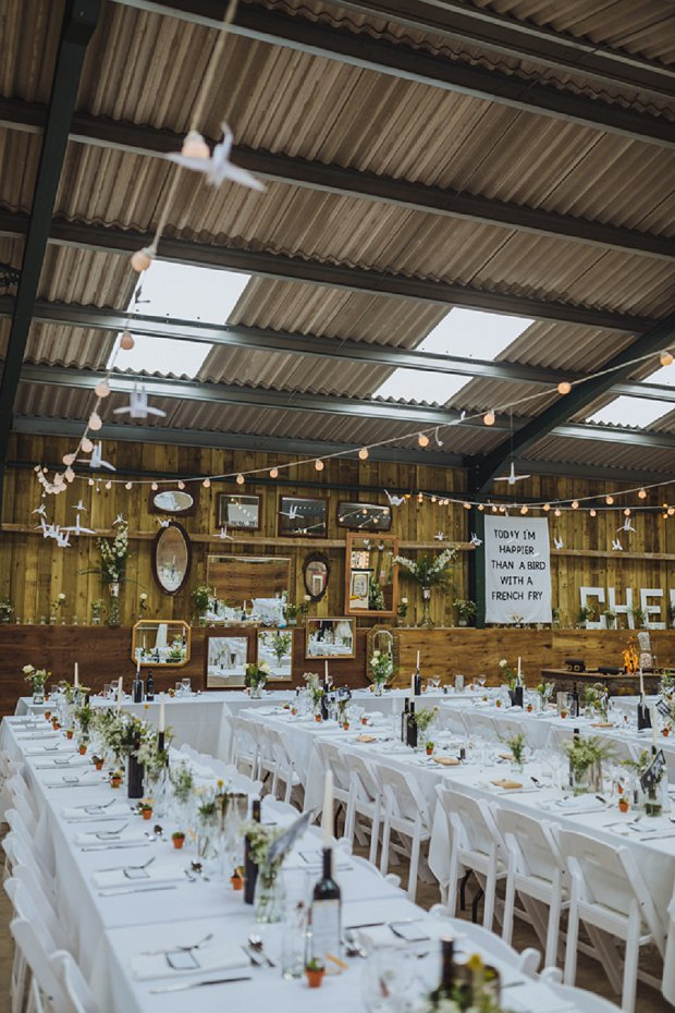 Blue & Mustard Rustic Barn Wedding With 50s Wedding Dress_0079