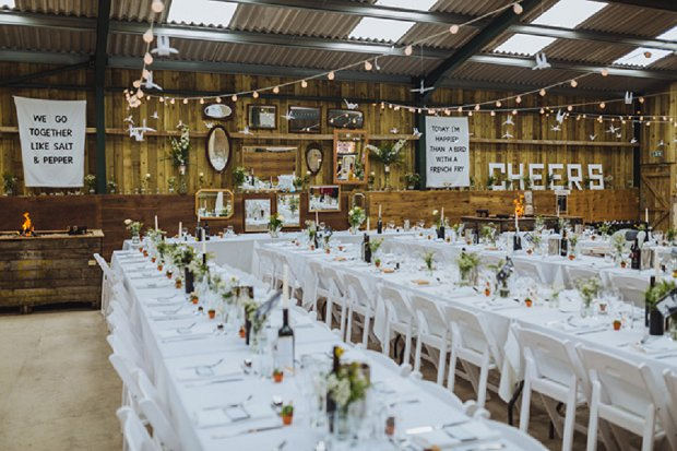 Blue & Mustard Rustic Barn Wedding With 50s Wedding Dress_0081