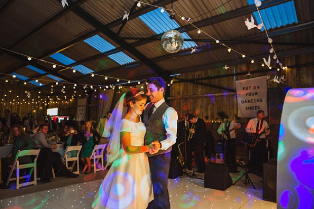 Blue & Mustard Rustic Barn Wedding With 50s Wedding Dress_0119
