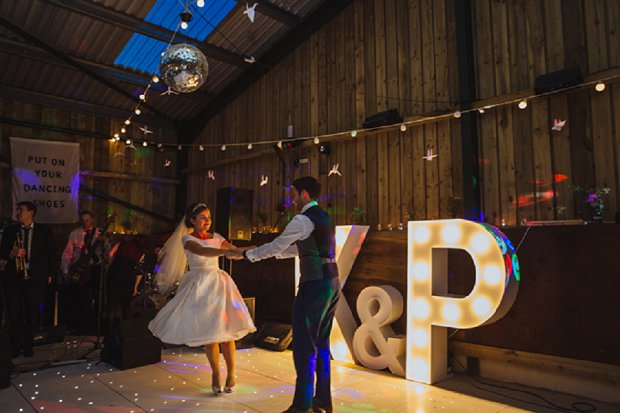 Blue & Mustard Rustic Barn Wedding With 50s Wedding Dress_0122