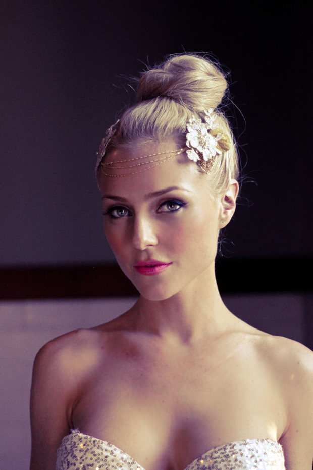 Boho Forehead Bands & Beautiful Halo Crowns   Bridal Style
