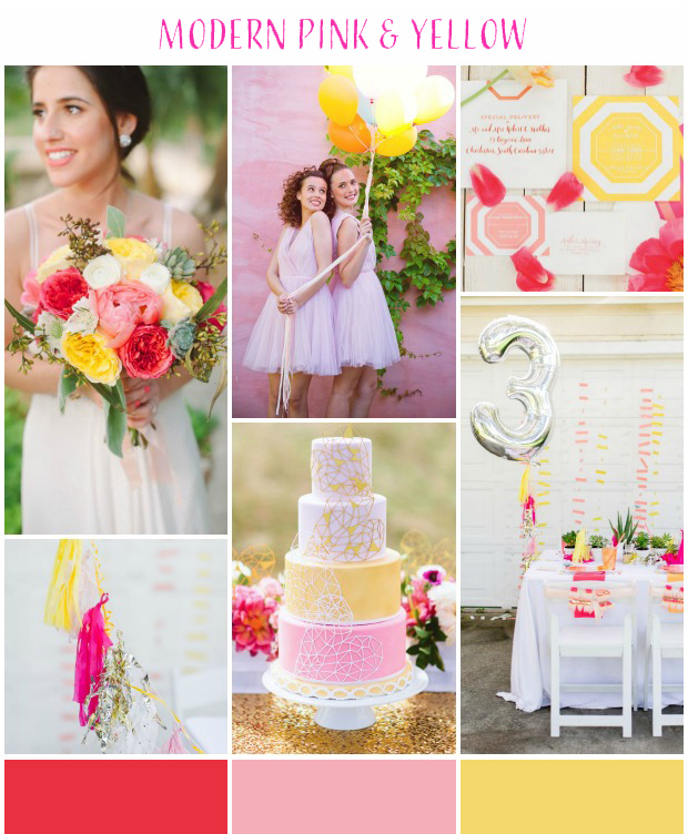 Pink, Yellow & Silver Wedding Inspiration