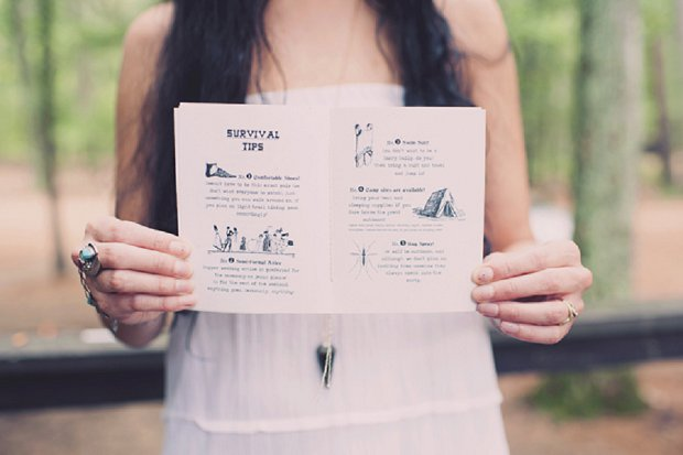 Summercamp Inspired Forest Wedding With a Vintage 1950s Wedding Dress: Patrick & Kinsey