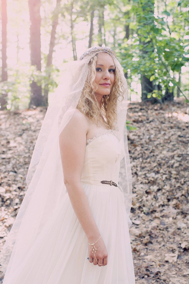 Summer Camp Inspired Outdoor Wedding With a Vintage 1950s Wedding Dress