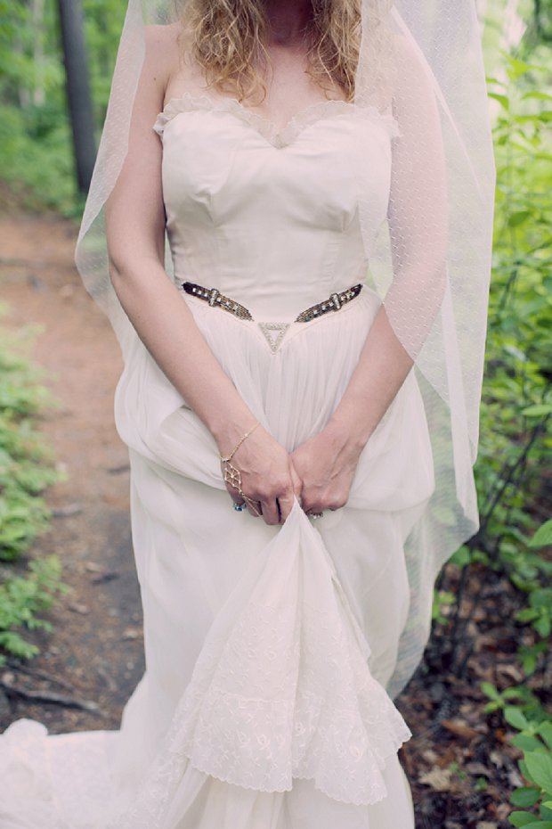 Summercamp Inspired Outdoor Wedding With a Vintage 1950s Wedding Dress