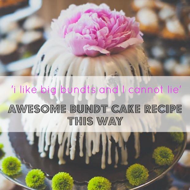 Wedding Cake Trends  Bundt Cake Recipe