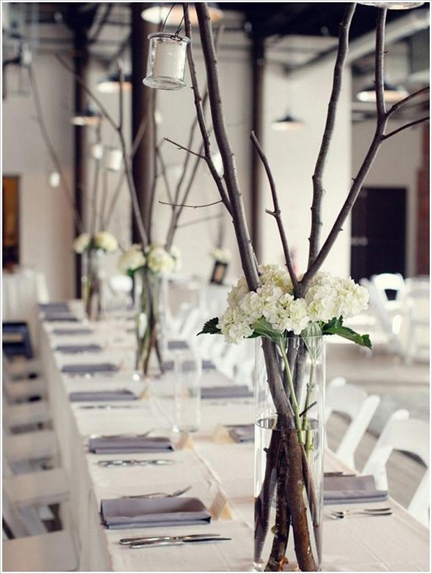 Winter wedding centrepiece ideas
