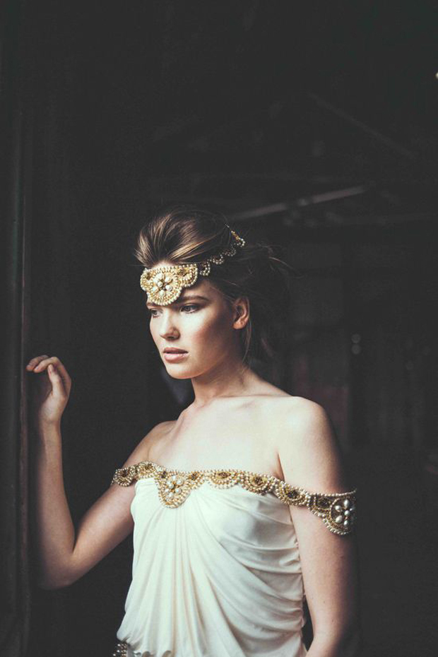 Antique Gold & Black Ink Wedding Inspiration