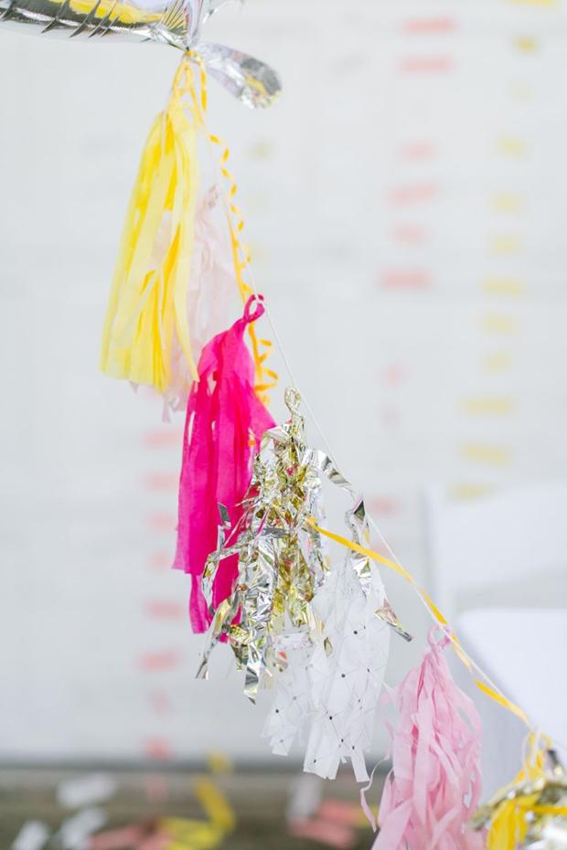 Modern Pink, Yellow & Silver Wedding Inspiration & Ideas