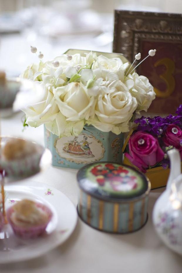 vintage tins for wedding props from beyond vintage