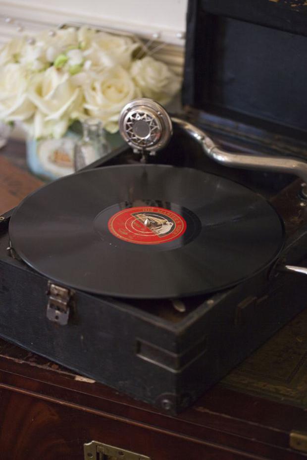 wedding grammar phone prop from beyond vintage