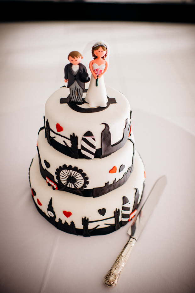london inspired wedding cake from A Super Fun, 'London' Inspired Real Wedding: Jen & Tris