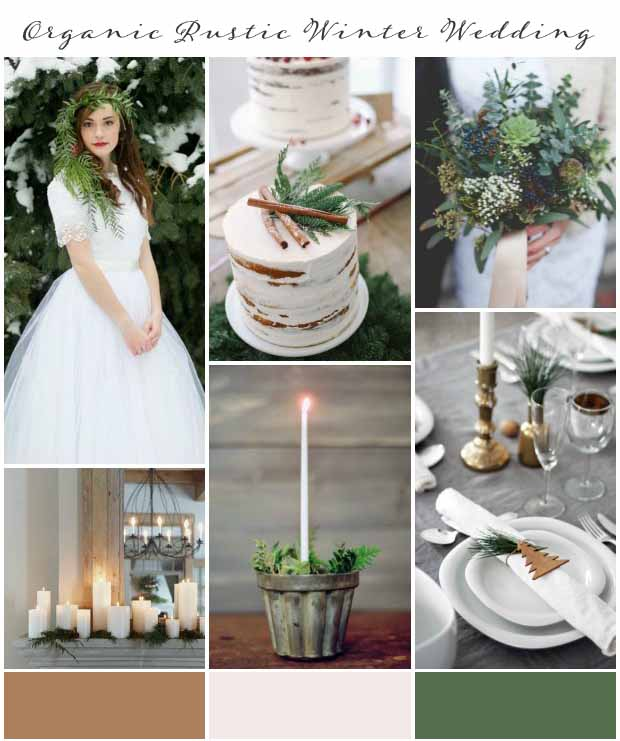 Organic Rustic Winter Wedding Inspiration