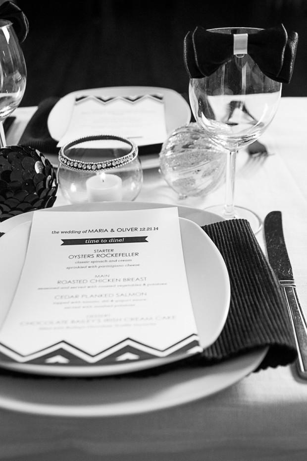 Elegantly Modern Black & White Styled Christmas Shoot
