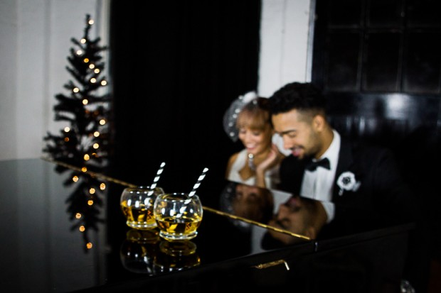 Elegantly Modern Black & White Styled Christmas Shoot