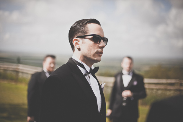 1920s Prohibition Style Safari Wedding - Groom in Shades