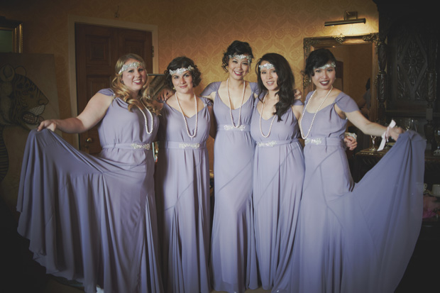 lilac vintage bridesmaid dresses