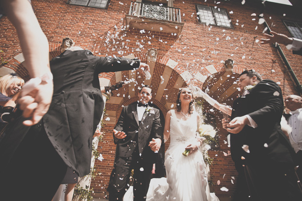 1920s Prohibition Style Safari Wedding - Confetti Shot!