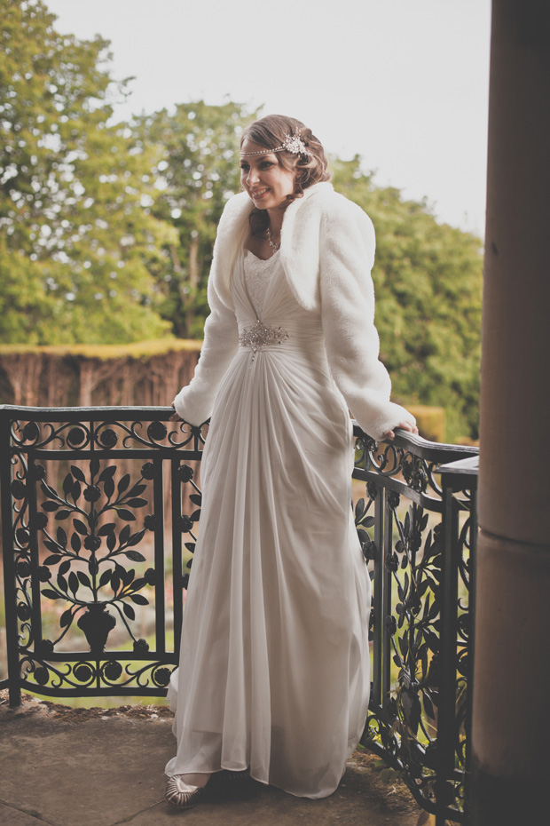 1920s Prohibition Style Safari Wedding - Bride