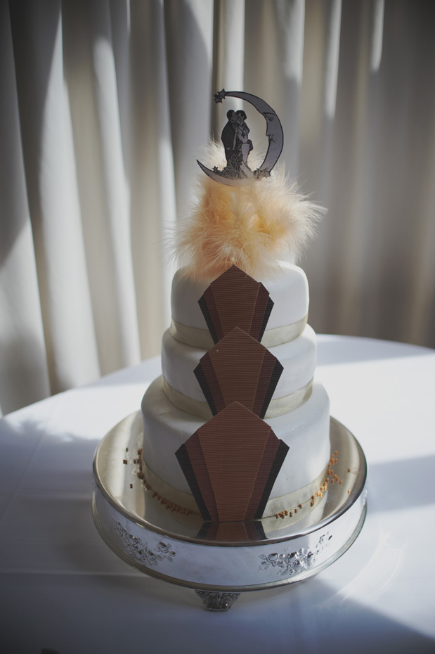 1920s Prohibition Style Safari Wedding - Wedding Cake