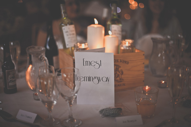 1920s Prohibition Style Safari Wedding - Ernest Hemingway Table Number
