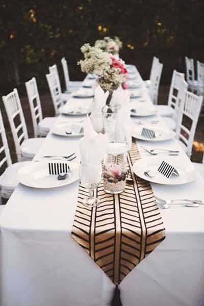 26 Ridiculously Pretty & Seriously Creative Wedding Table Runners Ideas You're So Gonna Want!