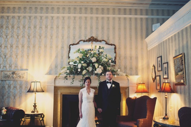 Amazing Woodsy Winter Wedding, Complete With Snowman & Pops of Cobalt Blue: Ashley & Jeff