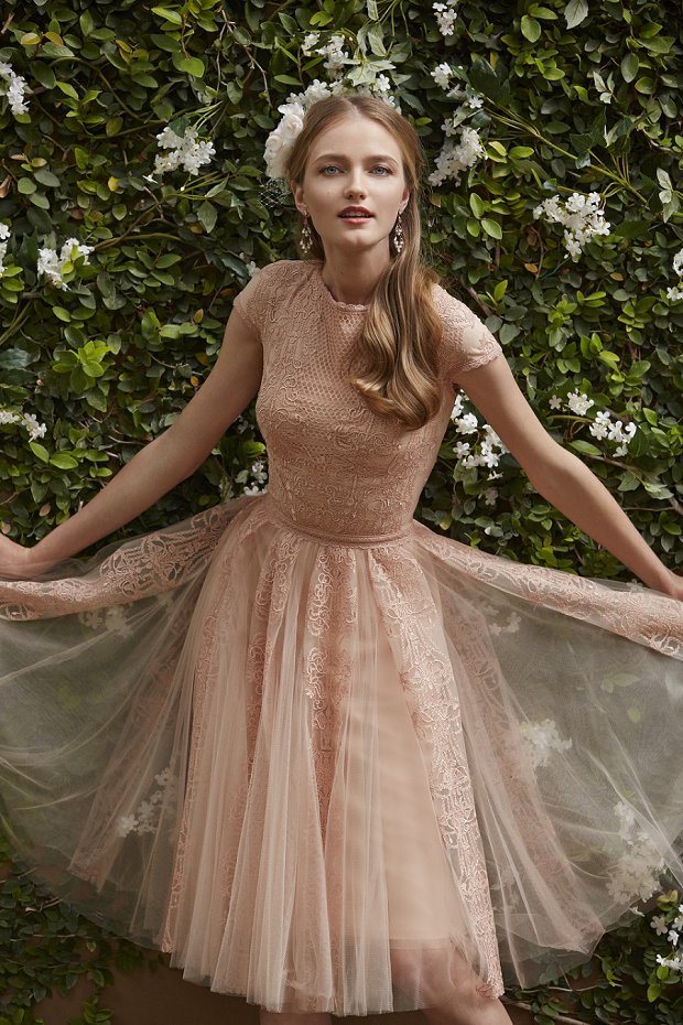 B h l d n wedding dresses spring 2015 the painted garden for Painted on wedding dress