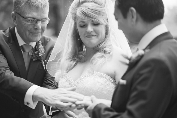 Black & White Stripes With Contrasting Floral Theme Real Weddng (14)