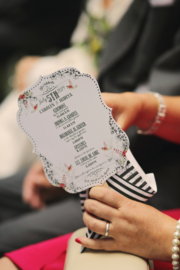 Black & White Stripes With Contrasting Floral Theme Real Weddng (18)