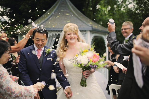Black & White Stripes With Contrasting Floral Theme Real Weddng (20)