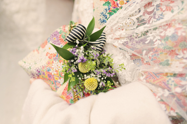 Black & White Stripes With Contrasting Floral Theme Real Weddng (23)