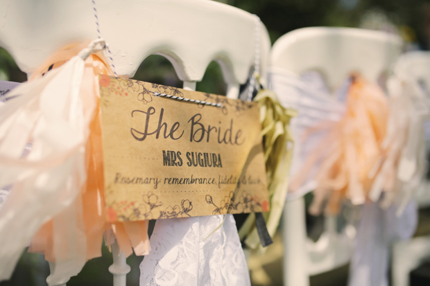 Black & White Stripes With Contrasting Floral Theme Real Weddng (41)