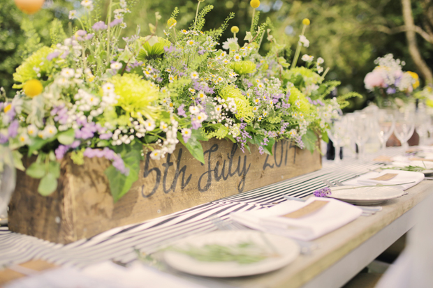 Black & White Stripes With Contrasting Floral Theme Real Weddng (42)