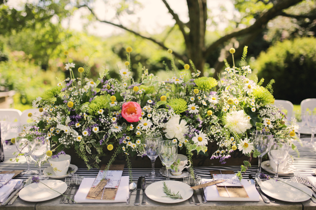 Black & White Stripes With Contrasting Floral Theme Real Weddng (43)