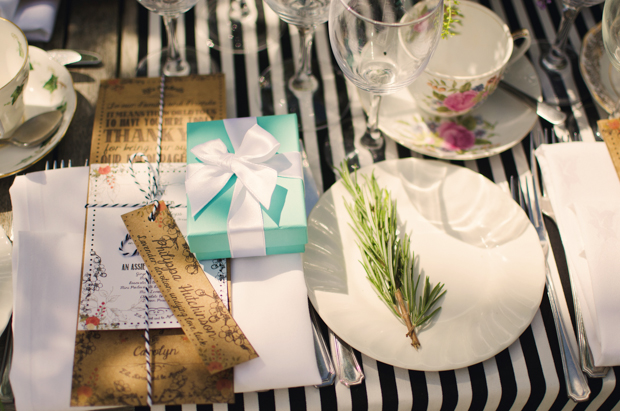 Black & White Stripes With Contrasting Floral Theme Real Weddng (46)