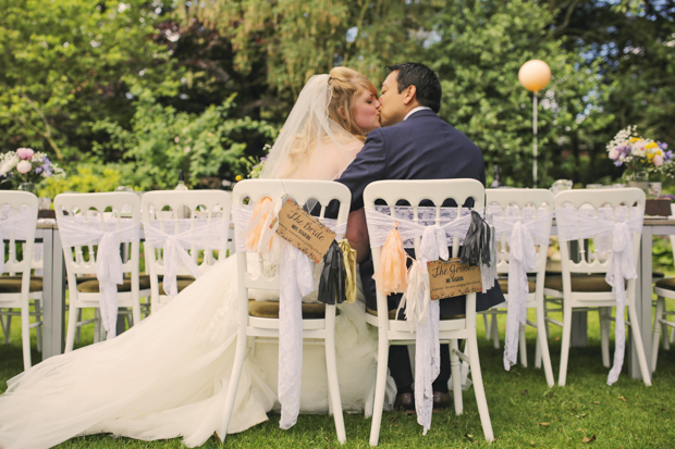 Black & White Stripes With Contrasting Floral Theme Real Weddng (51)