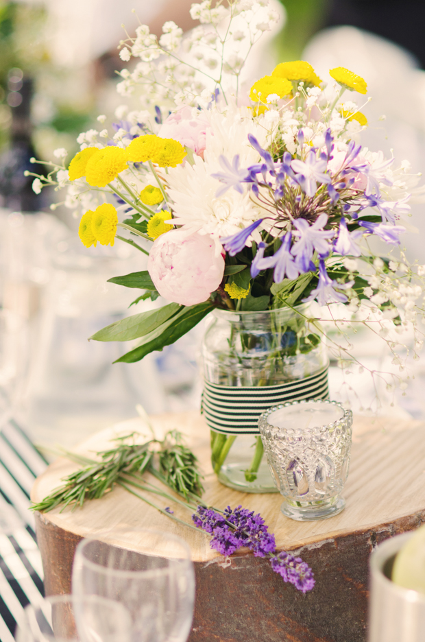 Black & White Stripes With Contrasting Floral Theme Real Weddng (55)