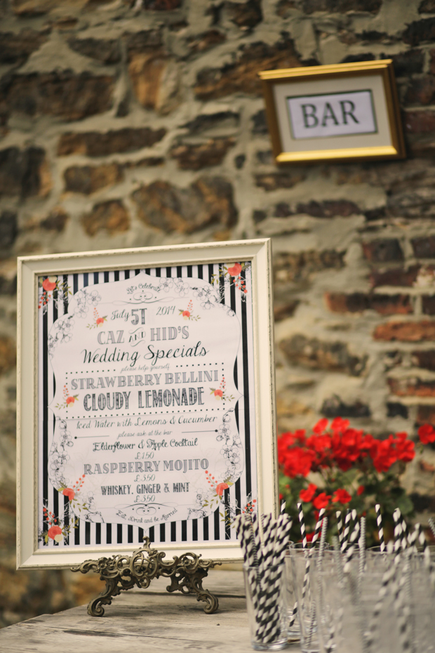 Black & White Stripes With Contrasting Floral Theme Real Weddng (58)